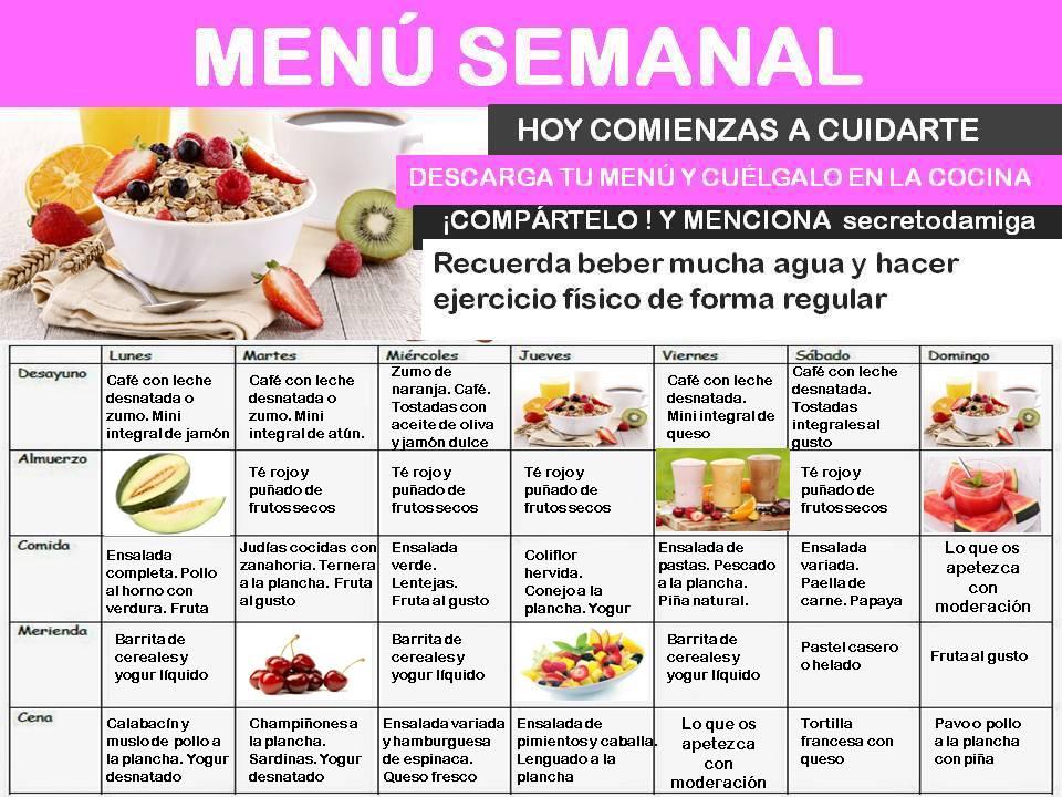Como bajar de peso men semanal junio 4 secretodamiga - Dieta para bajar de peso en un mes ...